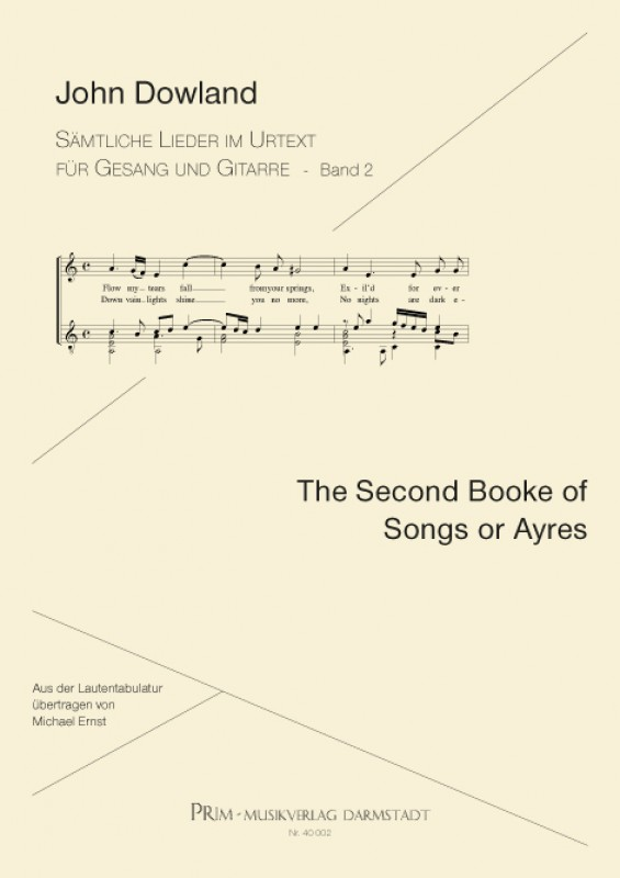 John Dowland The Second Booke of Songs