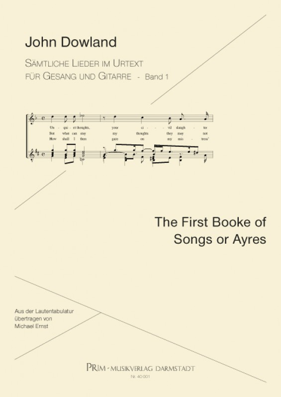 John Dowland The First Booke of Songs