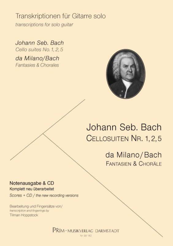 Johann Seb. Bach Cellosuiten 1, 2, 5 - EDITION/CD